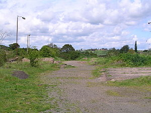 Broom Junction railway station - Station site in 2005.