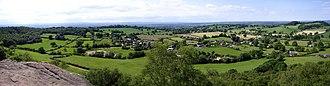 Broxton, Cheshire - Image: Broxton from Bickerton Hill 2008