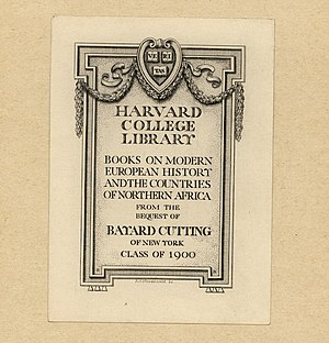 Bruce Rogers (typographer) - Image: Bruce Rogers Bookplate Harvard College Library 2