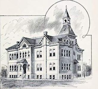 Brunswick, Missouri - Brunswick school constructed in 1871. It served until the early 1930s