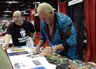 Brutus Beefcake - Beefcake signing autographs at Comic Con 2013
