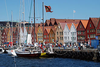 Culture of Norway - Historical quarter of Bryggen in Bergen.