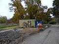 Bubeneč, Stromovka, Rudolfův rybník, stavební buňka.jpg