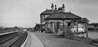 Buckley railway station - The station in 1961