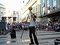 Bucuresti, Romania. Teatrul ODEON. (B-II-m-B-19854) B-FIT IN THE STREET 2018. Bubble Street Cirkus. Artistul Juriy Longhi. (9).jpg