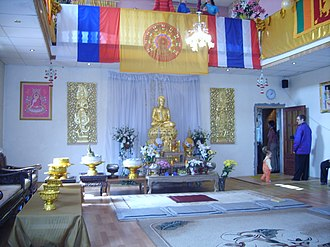 Religion in Russia - A Buddhist hall in Saint Petersburg.