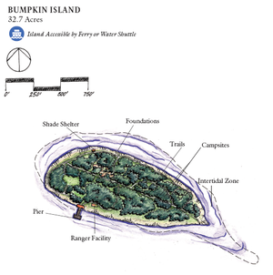 Bumpkin Island - Map of Bumpkin Island, provided by the National Park Service
