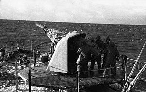 8.8 cm SK C/35 naval gun - A gun aboard the minesweeper Hansestadt Danzig