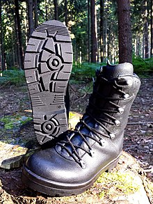 Sole of BW combat boots