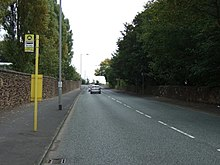 Bus stop on Elton Head Road - geograph.org.uk - 4164433.jpg