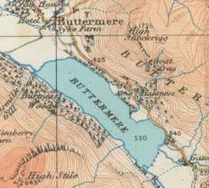 Buttermere - Map (1925)
