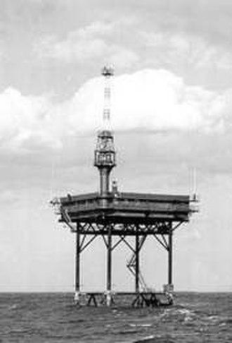 Texas Tower (lighthouse) - Image: Buzzards Bay Entrance Light (Texas Tower) MA