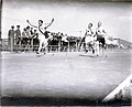 C.L. Hastedt of the Missouri Athletic Club winning the first heat of the 100 yard handicap race at the 1904 Olympics.jpg