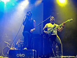 CAVO performing live at the Laredo Energy Arena in 2012.JPG