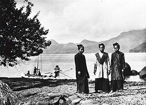Sangir Island - A photograph of young women in traditional dress on Sangir Island, taken circa 1900.