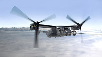 Bell Boeing V-22 Osprey - A CV-22 off the coast of Greenland receiving fuel from an MC-130H