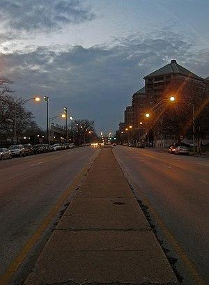 English: Road in Charles Village, Baltimore