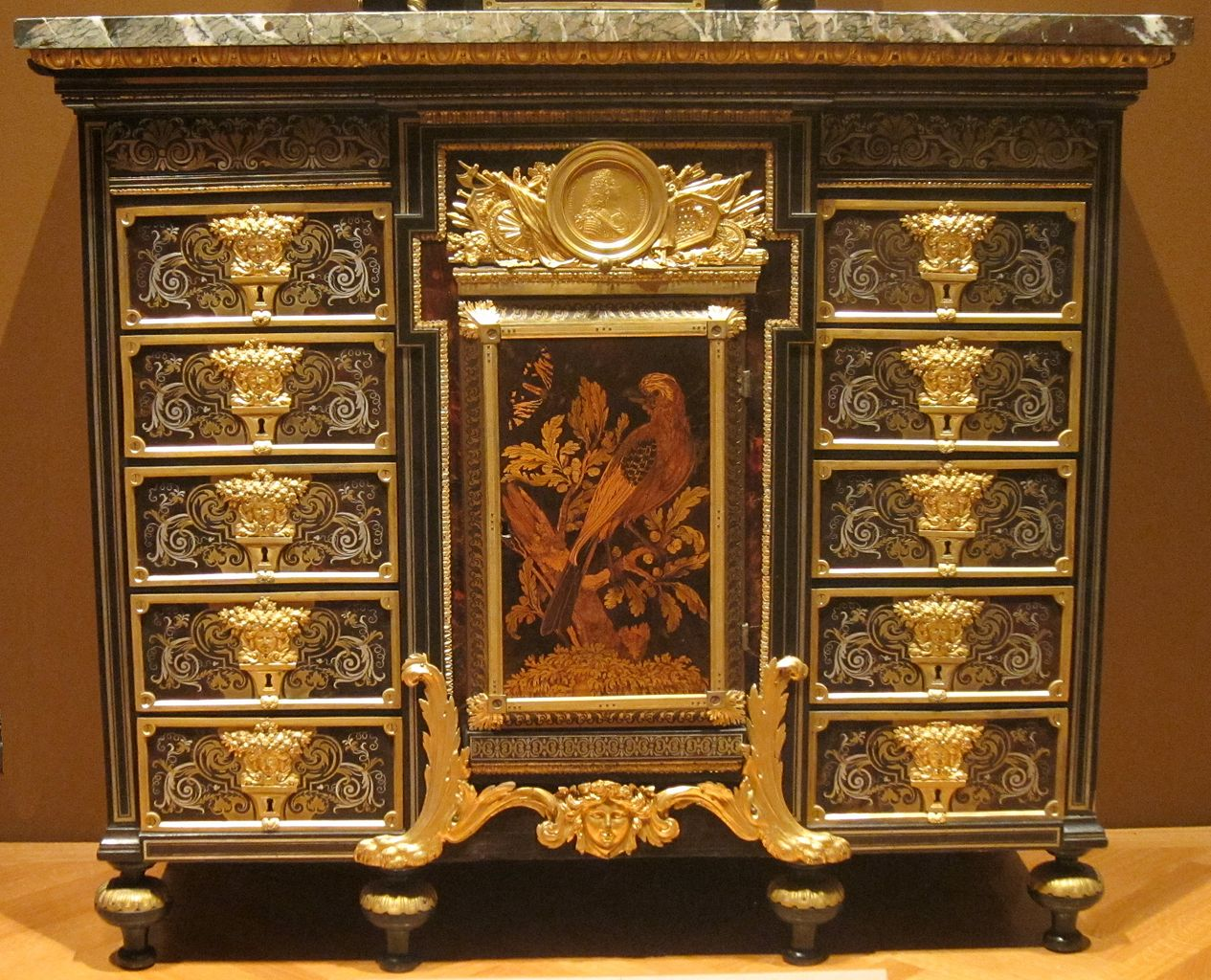 File:Cabinet, c. 1690, ebony, metal and tortoise shell, André ...