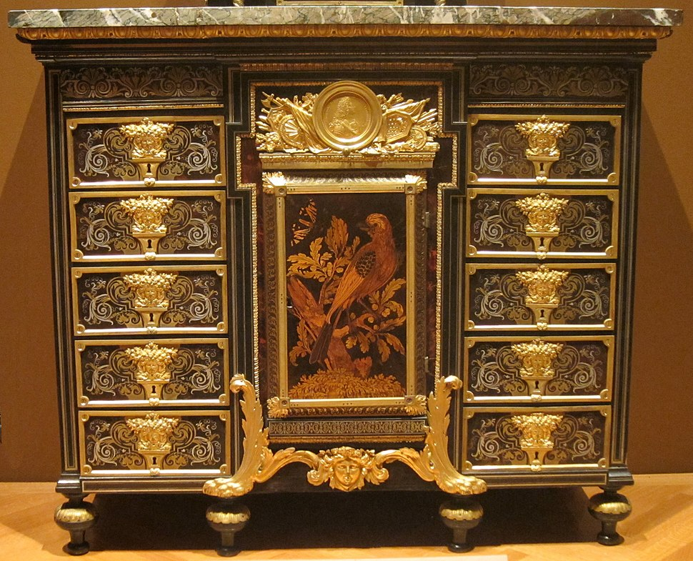 Cabinet, c. 1690, ebony, metal and tortoise shell, Andr%C3%A9-Charles Boulle, Cleveland Museum of Art