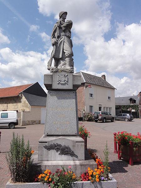 Caillouël-Crépigny (Aisne) monument aux morts