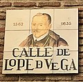 Calle de Lope de Vega - Street name plate in Madrid.jpg