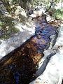 Canalización de agua junto al Eresma, Sendero de los Reales Sitios, San Ildefonso, Segovia, España, 2014.jpg