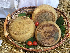 Canestrato - Canestrato from Moliterno, on the List of Italian products with protected designation of origin