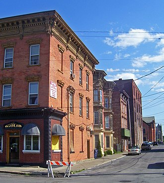 Downtown Cohoes Historic District - Housing along Canvass Street, built during the late 19th century