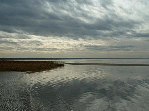 Eastham, Massachusetts - First Encounter Beach along Cape Cod Bay in Eastham