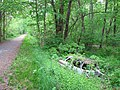 Car off the side of the Erie Canal Trail - panoramio.jpg