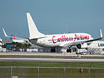 Caribbean Airlines Boeing 737-8Q8 (9Y-JMD) at Miami International Airport.jpg