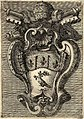 Carlo Rainaldi's coat of arms of Innocent X in the inner facade of St. Peter's Basilica by Filippo Juvarra (1711).jpg