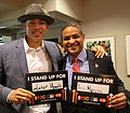 Carlos Correa and Roberto Clemente Jr. Stand Up 2 Cancer (22415660997).jpg