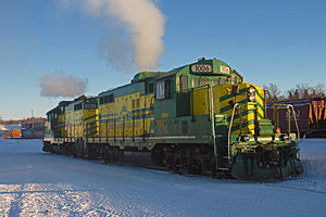 Carlton Trail Railway -  Carlton Trail locomotives in Prince Albert, 2013