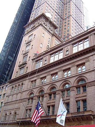 Music of New York City - Carnegie Hall, a major music venue in New York