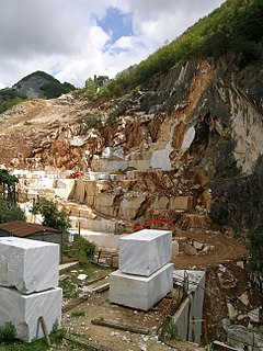 Carrara marble type of white or blue-grey marble popular for use in sculpture and building decor