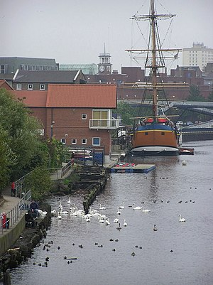 English: Castlegate Quay : Stockton-on-Tees HM...