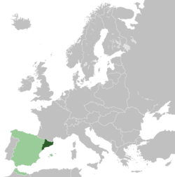 Location of the Catalan Republic within Europe.