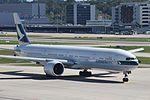 Cathay Pacific Boeing 777-367ER - B-KQI (ZRH) (23066272766).jpg