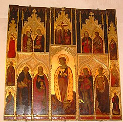 Sainte Marthe, le Christ en croix, saints et saintes