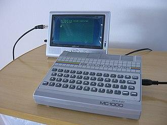 CCE MC-1000 - Image: Cce mc 1000 ligado mini TV