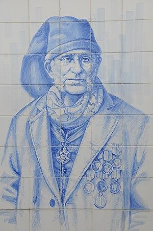 José Rodrigues Maio - Picture of José Rodrigues Maio in azulejo, Póvoa do Varzim