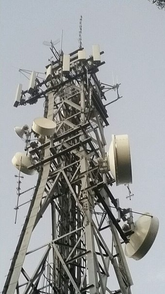 Cellular Mobile and UHF Antenna Tower with multiple Antennas Cellular Mobile UHF Antenna Tower8.jpg
