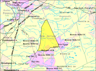 North Hanover Township, New Jersey - Image: Census Bureau map of North Hanover Township, New Jersey