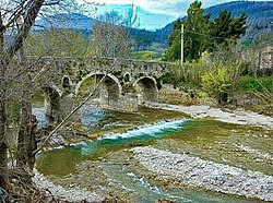 Cervaro river at Bovino bridge.jpg
