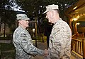 Chairman of the Joint Chiefs of Staff U.S. Army Gen. Martin E. Dempsey, left, shakes hands with Marine Corps Gen. Joseph F. Dunford Jr 140826-D-HU462-647.jpg
