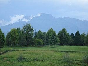 Cathkin Peak, 3182m above sea level in the for...