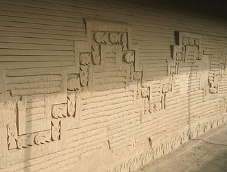 Chimú culture - Carvings of fish in the Tschudi Complex, Chan Chan