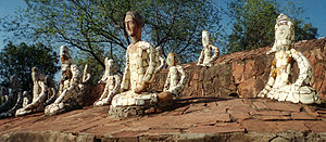 Rock Garden of Chandigarh - The garden is most famous for its sculptures made from recycled ceramic