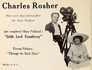 Charles Rosher - Rosher with Mary Pickford (1921)